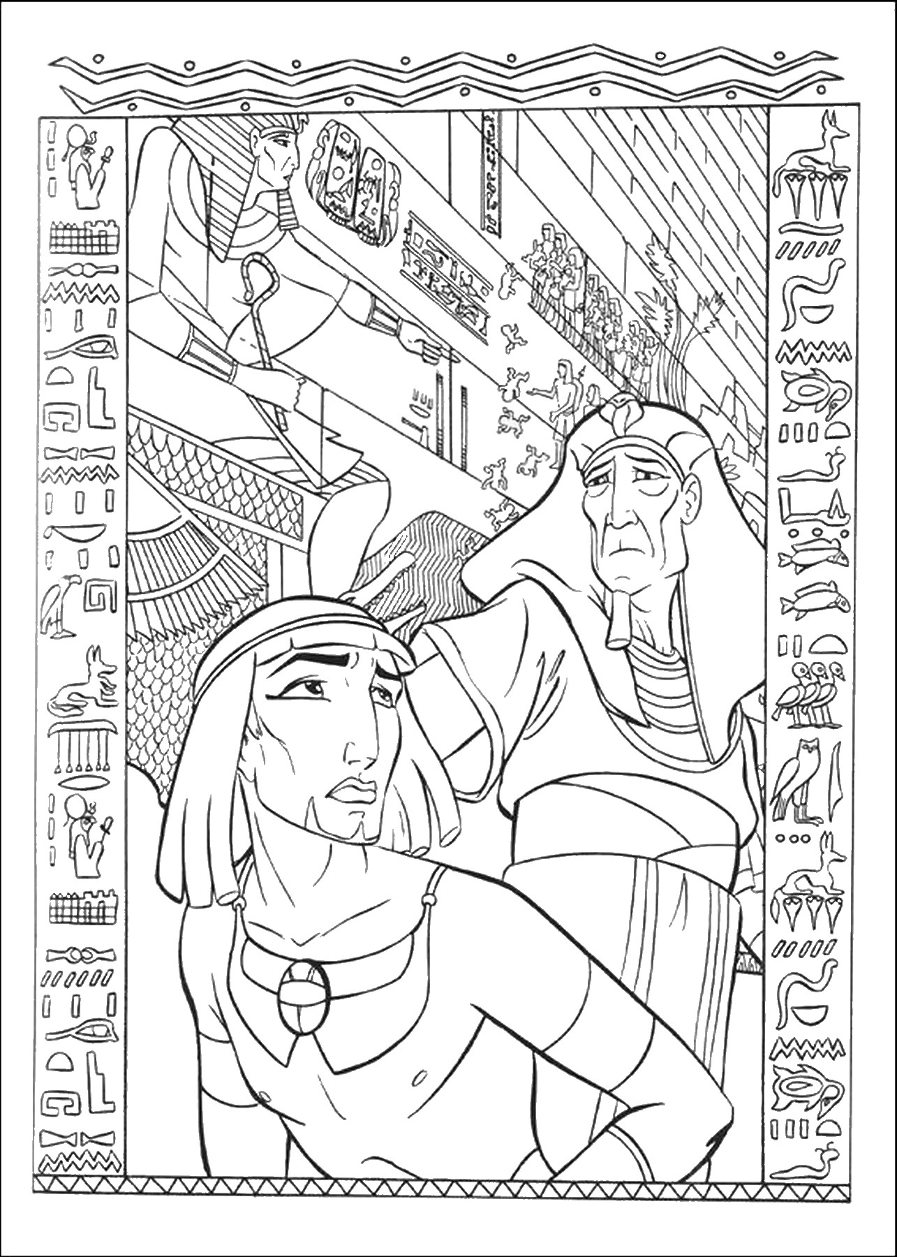 Moses Prince Egypt Coloring Prince Printable Coloring Pages Free