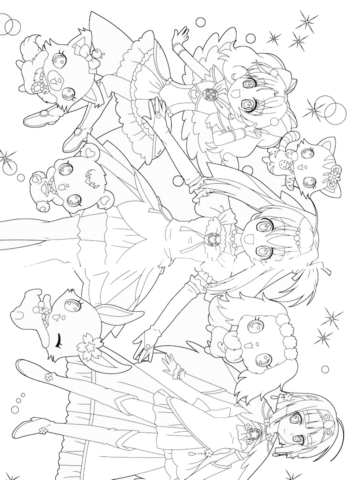 Lolirock Iris Coloring Pages Sketch
