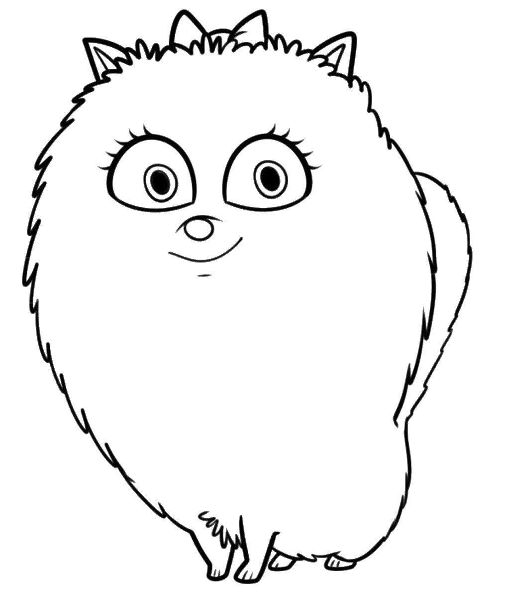 for Secret life of pets printable coloring pages