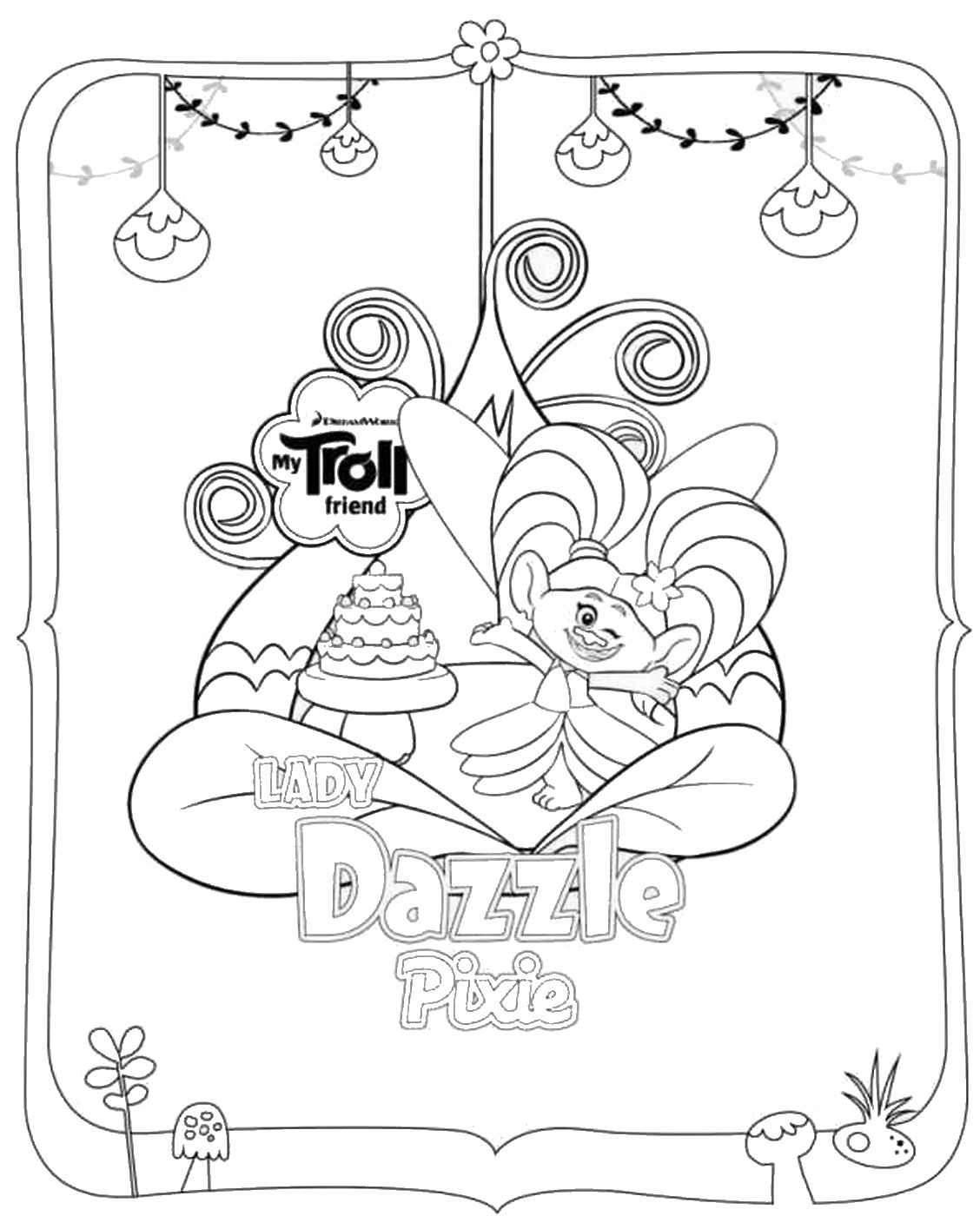 movie trolls coloring pages - trolls movie free coloring pages