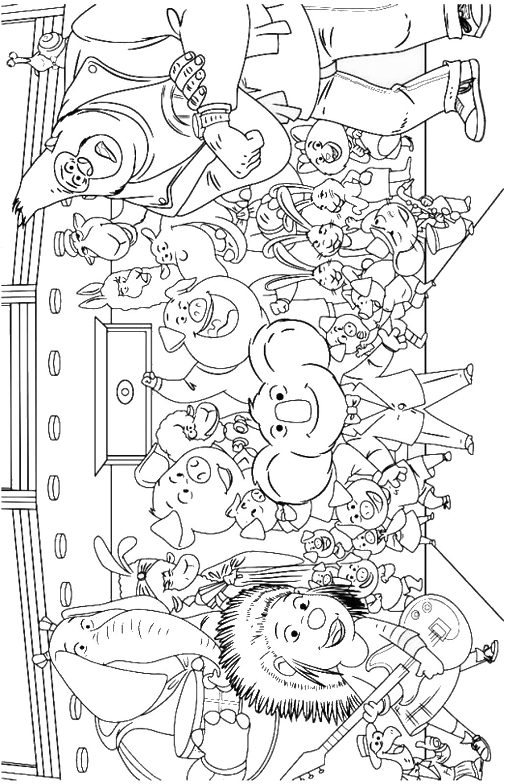 for Sing movie coloring pages