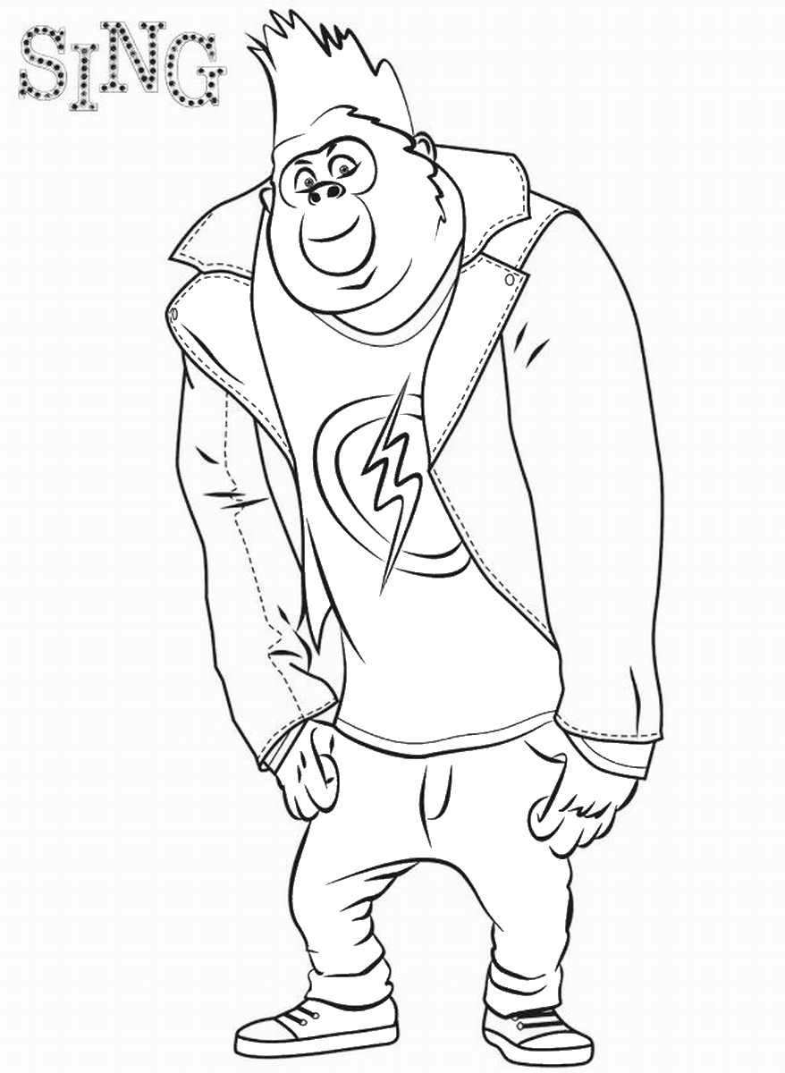 Coloring Sing Coloring Pages Singing Coloring Pages